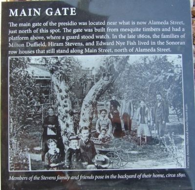Main Gate Marker image. Click for full size.