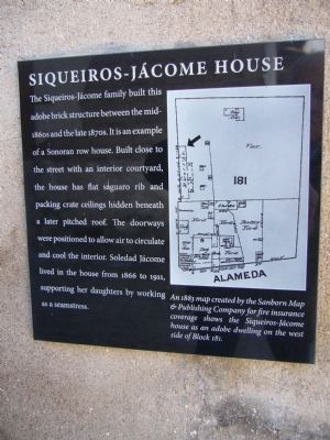 Siqueiros-Jácome House Marker image. Click for full size.
