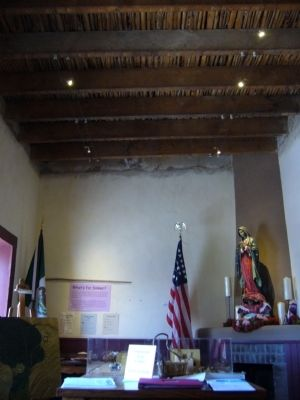 Flat saguaro rib ceiling in the Siqueiros-Jácome house. image. Click for full size.