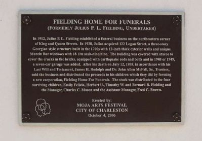 Fielding Home for Funerals Marker Photo, Click for full size