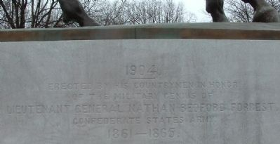 Confederate General Nathan Bedford Forrest Statue image. Click for full size.