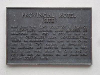 Provincial Motel (site) Marker image. Click for full size.