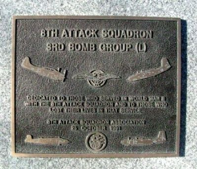 8th Attack Squadron Marker image. Click for full size.