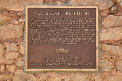 Old Segale Building Marker image. Click for full size.