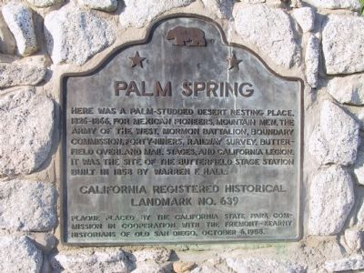 Palm Spring Marker image. Click for full size.