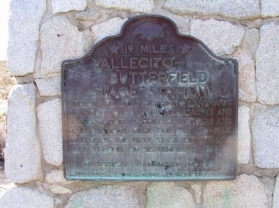 Vallecito-Butterfield Stage Station Marker image. Click for full size.