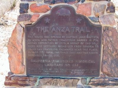 The Anza Trail Marker image. Click for full size.