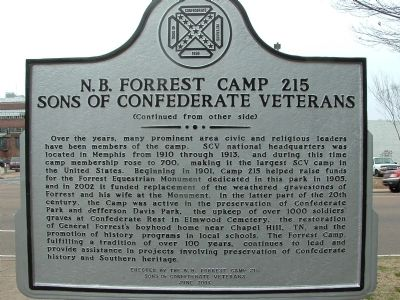 N. B. Forrest Camp 215 Sons of Confederate Veterans Marker image. Click for full size.