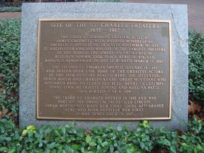 Site of the St. Charles Theaters Marker image. Click for full size.