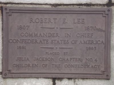 Robert E. Lee Marker image. Click for full size.