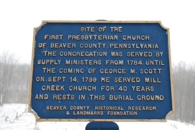 Site of the First Presbyterian Church of Beaver County Pennsylvania Marker Photo, Click for full size