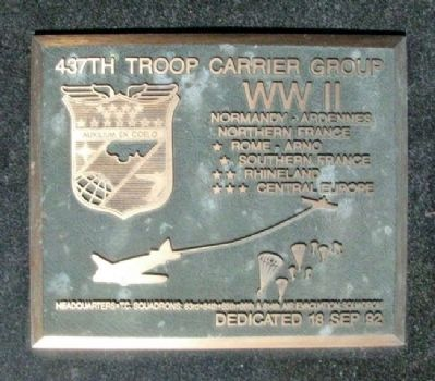 437th Troop Carrier Group Marker image. Click for full size.