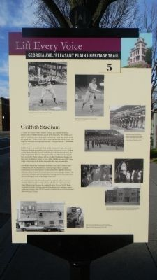 Griffith Stadium Marker image. Click for full size.