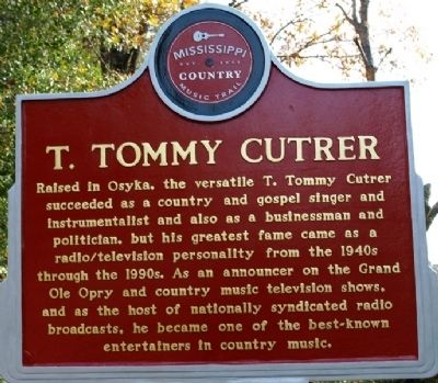 T. Tommy Cutrer Marker image. Click for full size.