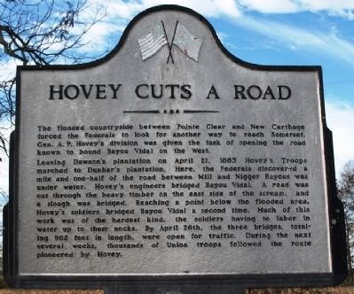 Hovey Cuts A Road Marker image. Click for full size.