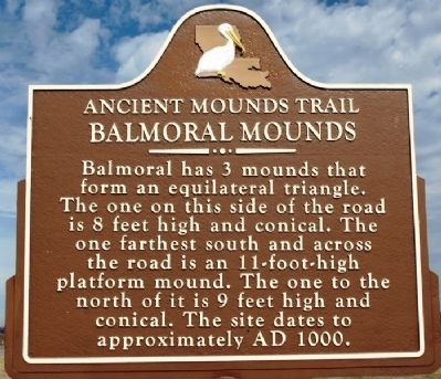 Balmoral Mounds Marker image. Click for full size.