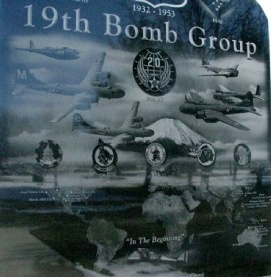 19th Bomb Group Memorial Side A Detail image. Click for full size.