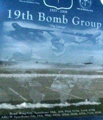 19th Bomb Group Memorial Side B Detail image. Click for full size.