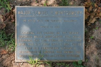 Major Lemuel P. Montgomery Marker image. Click for full size.