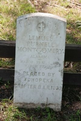Major Lemuel P. Montgomery Headstone image. Click for full size.
