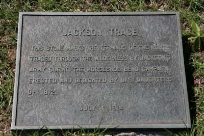 Jackson Trace Marker Photo, Click for full size