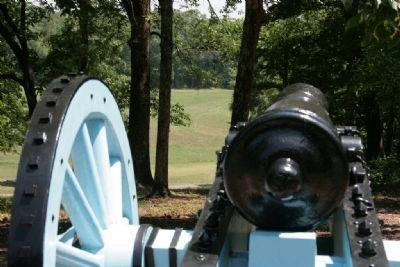 View downrange from the gun position. image. Click for full size.