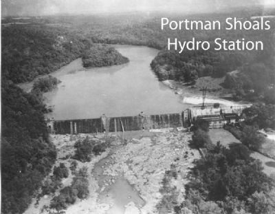 Portman Shoals Power Plant<br>Birds-eye View image. Click for full size.