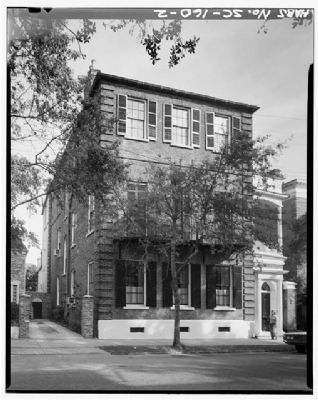 Thomas Heyward House, 18 Meeting Street, Historic American Engineering Record, Habs SC,10-CHAR,1--2 image. Click for full size.