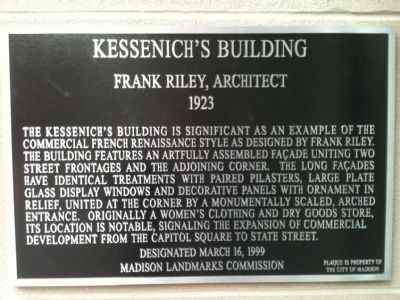 Kessenich's Building Marker image. Click for full size.