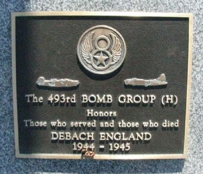493rd Bomb Group (H) Marker image. Click for full size.