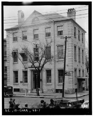Old Jewish Orphanage, 88 Broad Street, Historic American Engineering Record,Habs SC,10-CHAR,68--1 image. Click for full size.