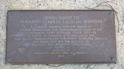 Honor Court to Brigadier General Lachlan McIntosh Marker image. Click for full size.