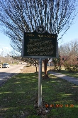 Twin Magnolias Marker image. Click for full size.