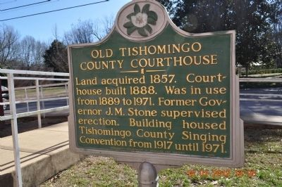 Old Tishomingo County Courthouse Marker image. Click for full size.
