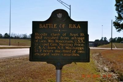 Battle of Iuka Marker image. Click for full size.