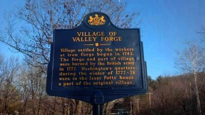 Village of Valley Forge Marker image. Click for full size.