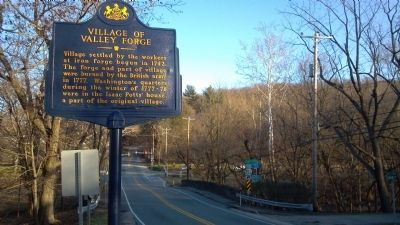 Village of Valley Forge Roadside Marker image. Click for full size.