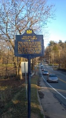 Village of Valley Forge Marker Facing East image. Click for full size.