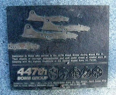 447th Bomb Group Marker image. Click for full size.