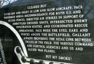 Forward Air Controllers Memorial Cleared Hot image. Click for full size.