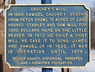 Caughey's Mill Marker image. Click for full size.