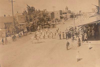 Parade in Corning 1902 image. Click for full size.