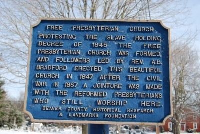 Free Presbyterian Church Marker image. Click for full size.