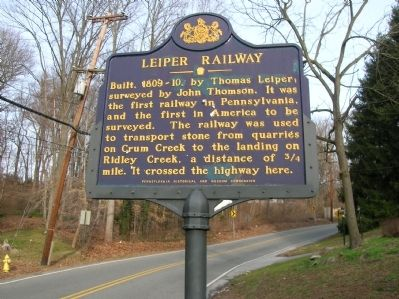 Leiper Railway Marker Photo, Click for full size