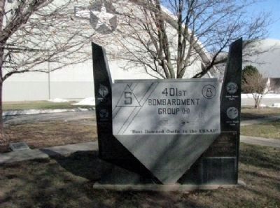 401st Bombardment Group (H) Memorial (front) image. Click for full size.
