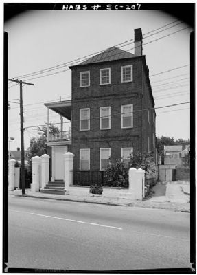 The Moses C. Levy House, Historic American Engineering Record, Habs SC,10-CHAR,33--5 image. Click for full size.