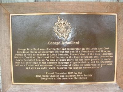 George Drouillard Marker image. Click for full size.