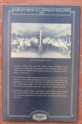 Fairley Bros. & Lampman Building Marker image. Click for full size.