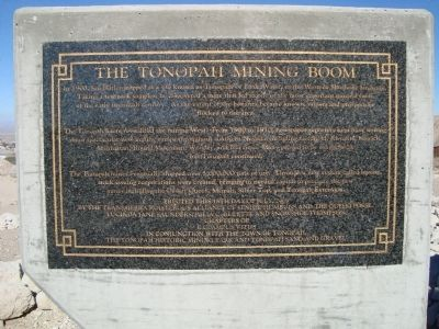 The Tonopah Mining Boom Marker Photo, Click for full size