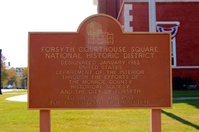 Forsyth Courthouse Square National Historic District Marker image. Click for full size.